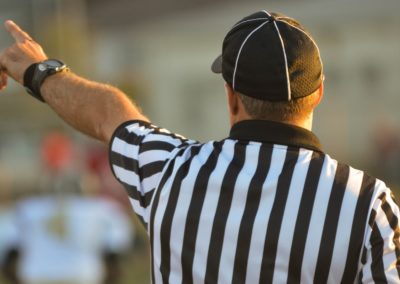 Arbitre professionnel de discipline sportive
