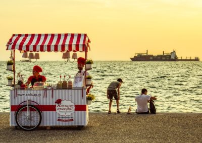 Vendeur de glaces, de sandwichs